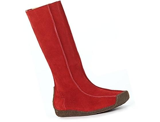 Waterfront red suede