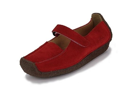 Beatty red suede