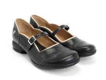 Sandra Black Rounded Toe Mary Jane Shoe