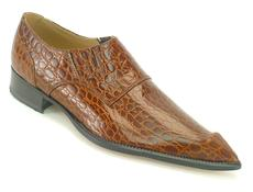 Western Loafer 14215 Brown Croc Stamp