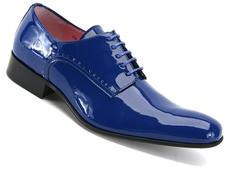 Luciano Blue Electric Patent Sleek derby shoe