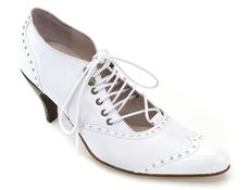 Chamomile Wedding White Leather & Patent