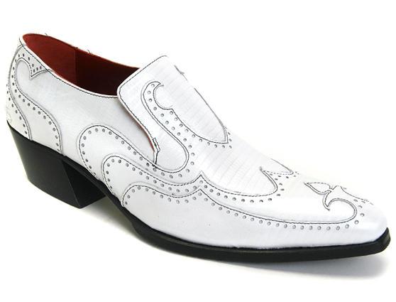 Iggy: Women's White Pearl Loafer heel