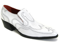 Iggy: Women's White Pearl Loafer heel