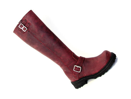 Bondgirl Wine Tall boot with buckles