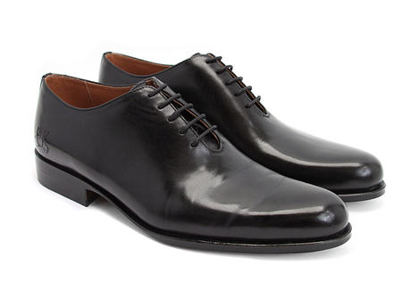 104 Prince St Black Classic oxford lace-up