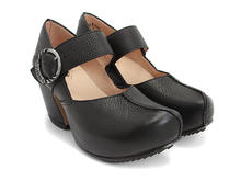 Leader Black Platform Mary Jane Heel