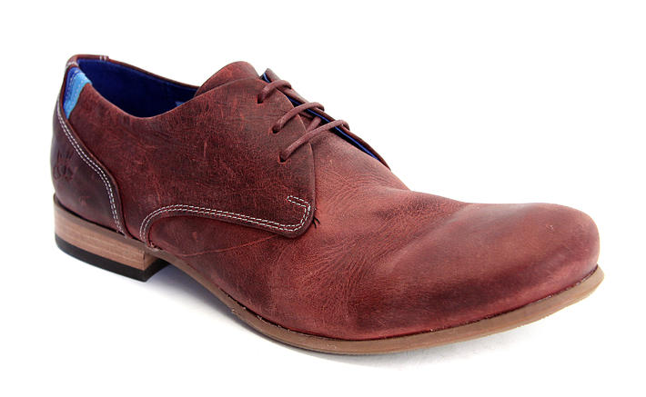 CBC: Women's Burgundy Leather & suede derby shoe