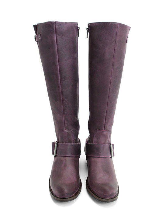 Luna Violet Tall buckled boot