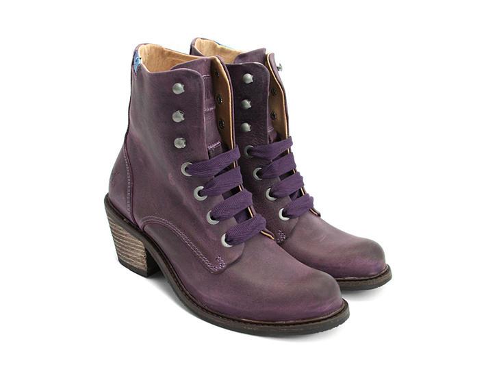 Fluevog Shoes Shop Nuni Purple Lace Up Winter Boot