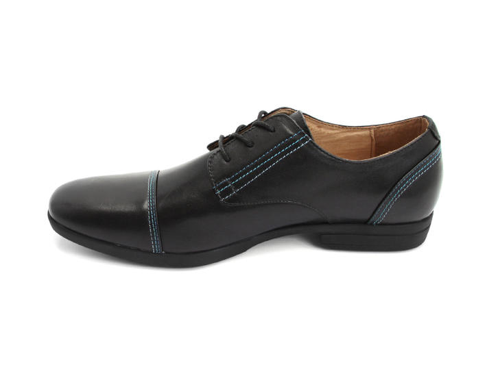 Breton Black Leather derby shoe