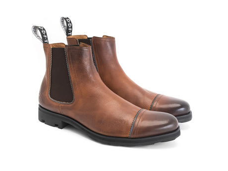 Nathan Brown Leather Chelsea Boot
