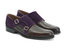 Brun et suède violet