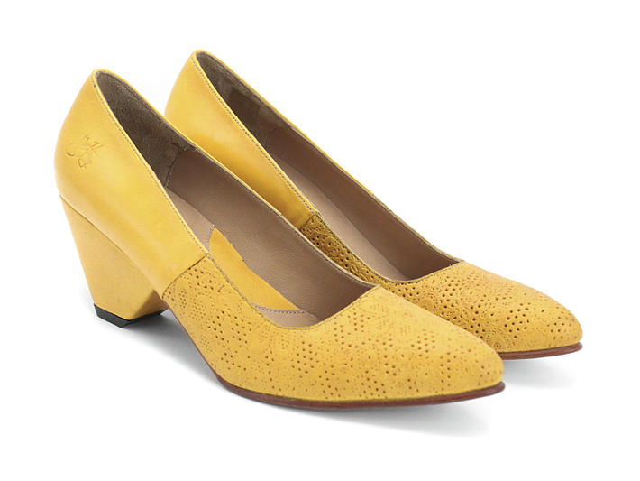 Fluevog Shoes | Shop | Ambition (Yellow) | Low-heeled pump