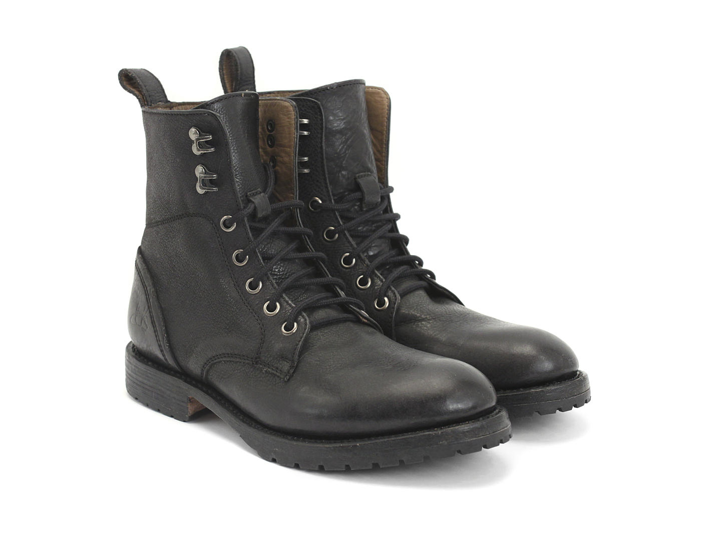 Toronto Shoe Store White Lace Up Boots