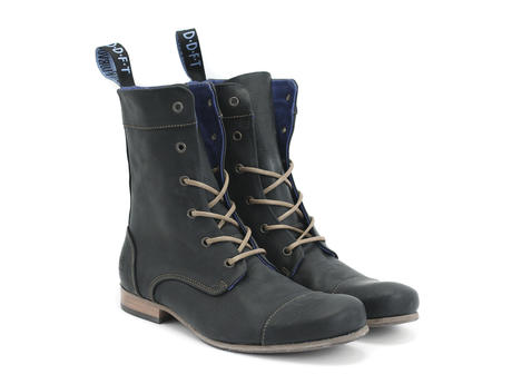 BBC: Men's Black Classic Lace-up Boot
