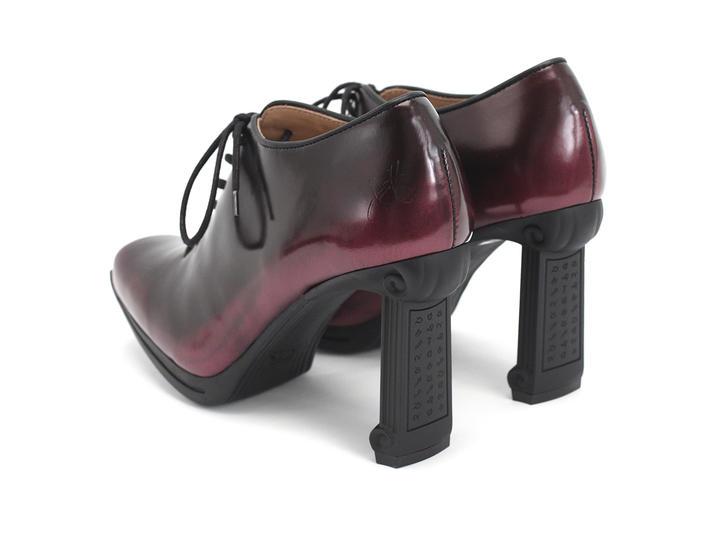 Ludovika Burgundy Sexy heeled balmoral