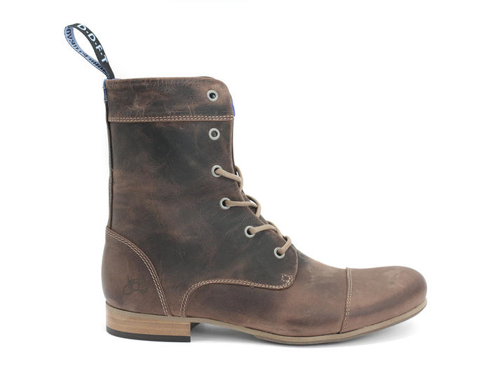 BBC: Hommes Brun Classic Lace-up Boot