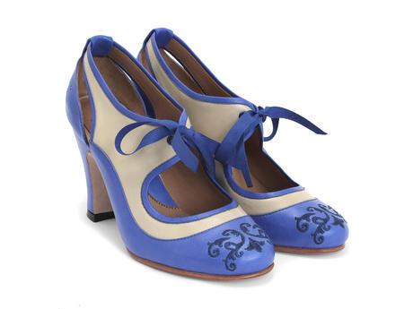 Blue & Beige