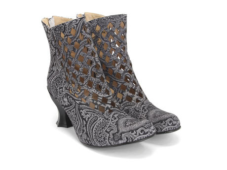 Murillo Grey Paisley Diamond perforated boot