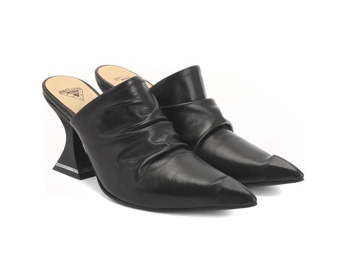 Bella Cohen Black Slouchy Mule Heel
