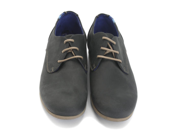 CBC: Women's Black Leather Leather & suede derby shoe