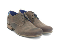 CBC: Women's Brown Leather Leather & suede derby shoe