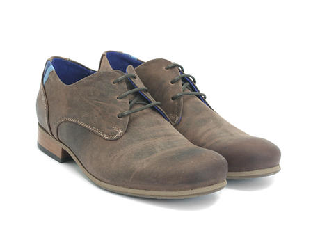 CBC: Hommes Cuir brun Leather & Suede Derby Shoe