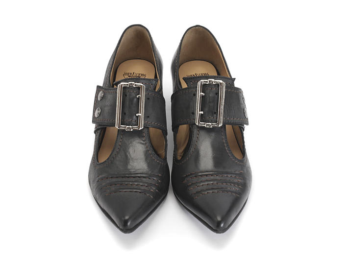 Pilgrim Noir Buckled Victorian loafer