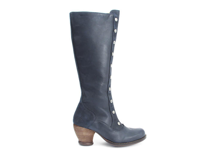Dallas Blue Tall Boot with Studded Shaft