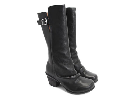 Kanawa Black Slouchy Leather Boot