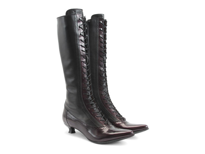 Sherry - Burgundy | Tall Lace-Up Boot