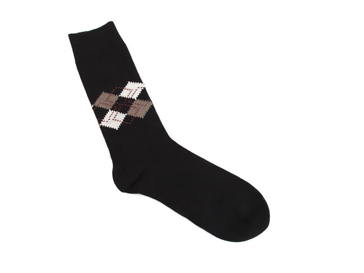 Argyle Vog Socks Black Cotton socks