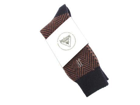 Herringbone Vog Socks Navy