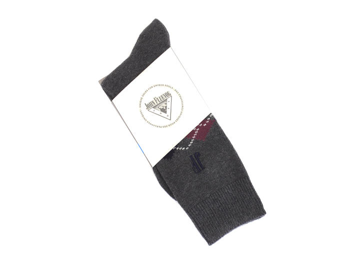 Argyle Vog Socks Grey