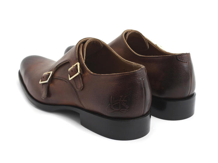 205 Pine Street Warm Brown Classic double monkstrap