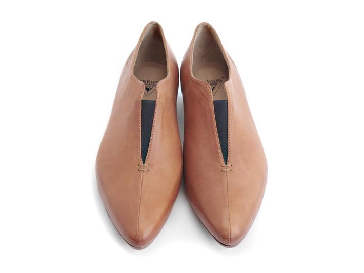 Water Orange Pointed Slip-On Shoe