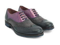 Violet, gris & marine