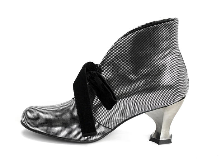 Sparkler Silver Silver lace-up bootie