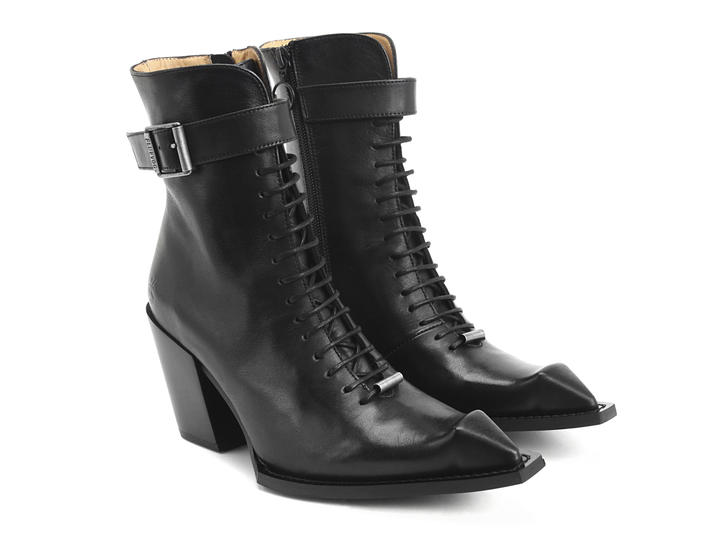 Cubist Cupcake Black Lace-up ankle boot with buckle