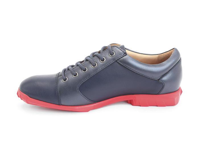Elroy Blue Capped toe derby