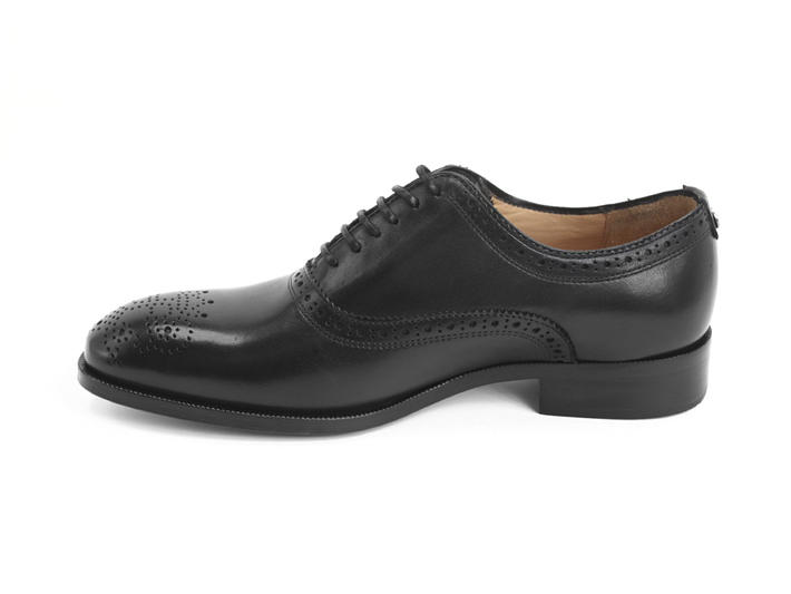 Damascus Black Classic brogued oxford
