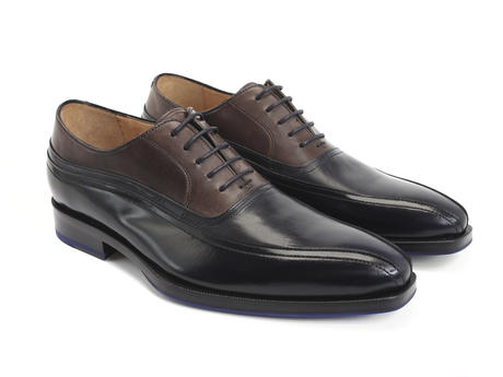 Octopus Blue & Brown Shiny split-toe oxford
