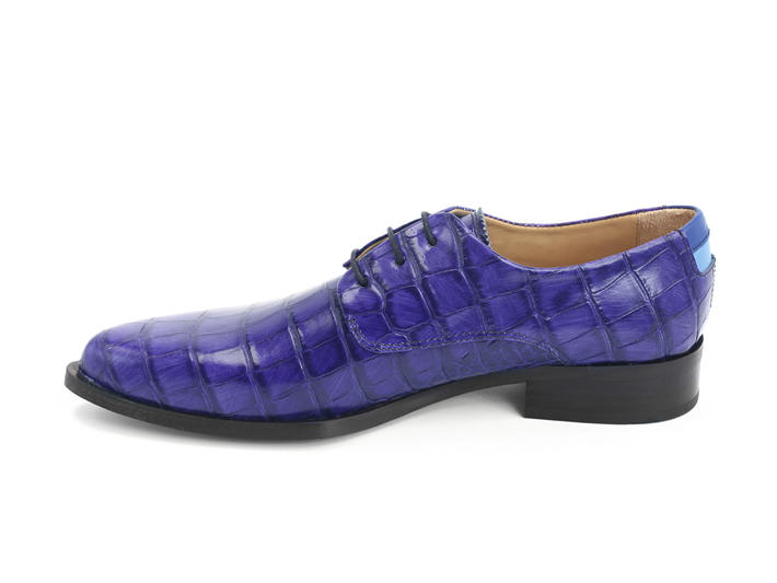 Ace Face Blue Simple derby lace-up