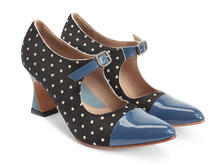 Malala Pony Dots & Teal Patent toed mary jane