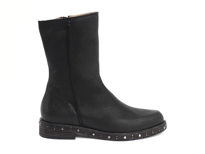 Nicola Black Boot with studded sole