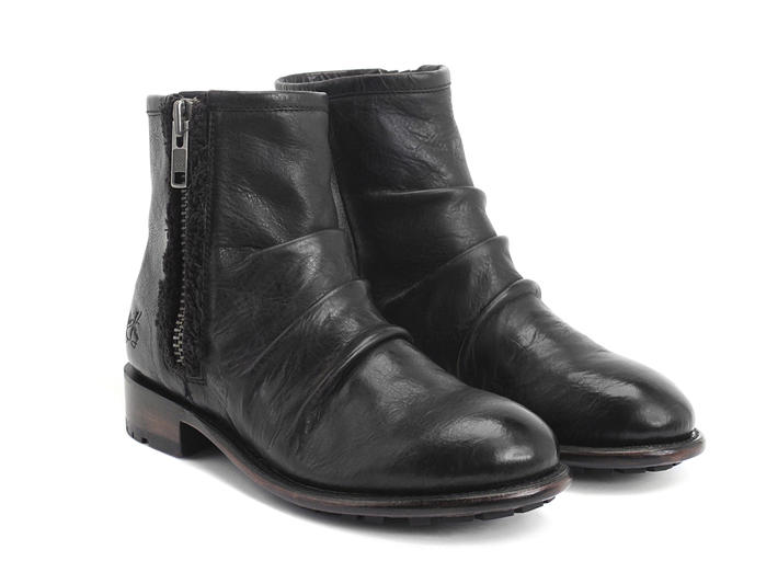 Malcolm 2.0 Black Flat zippered ankle boots