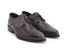 Ace Face Charcoal Alligator Simple derby lace-up