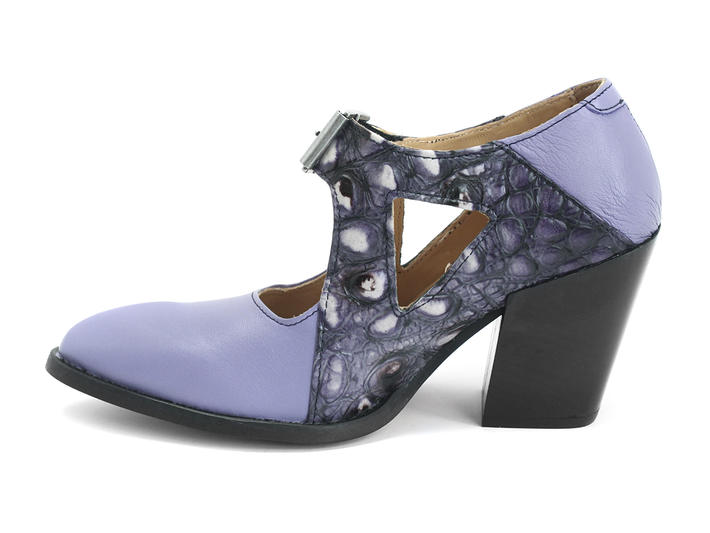 Room 213 Blue/Blue Dragon Sexy buckled heel