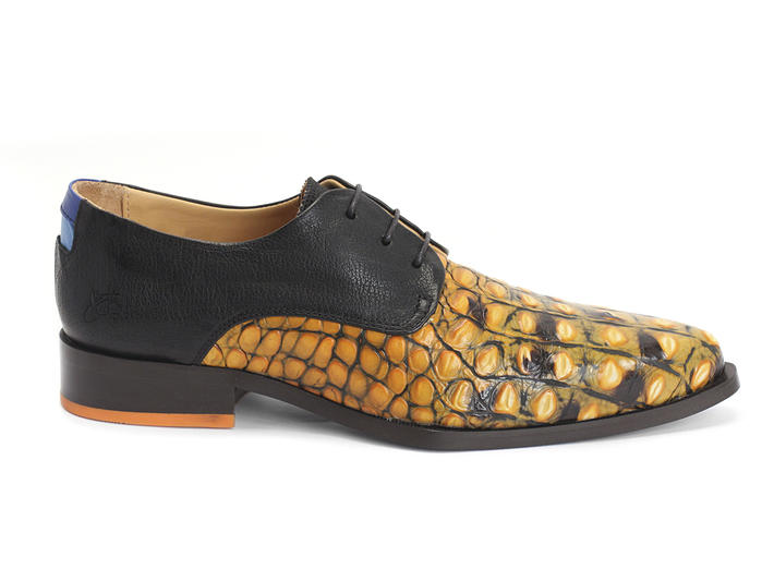 Ace Face Orange Dragon Simple derby lace-up